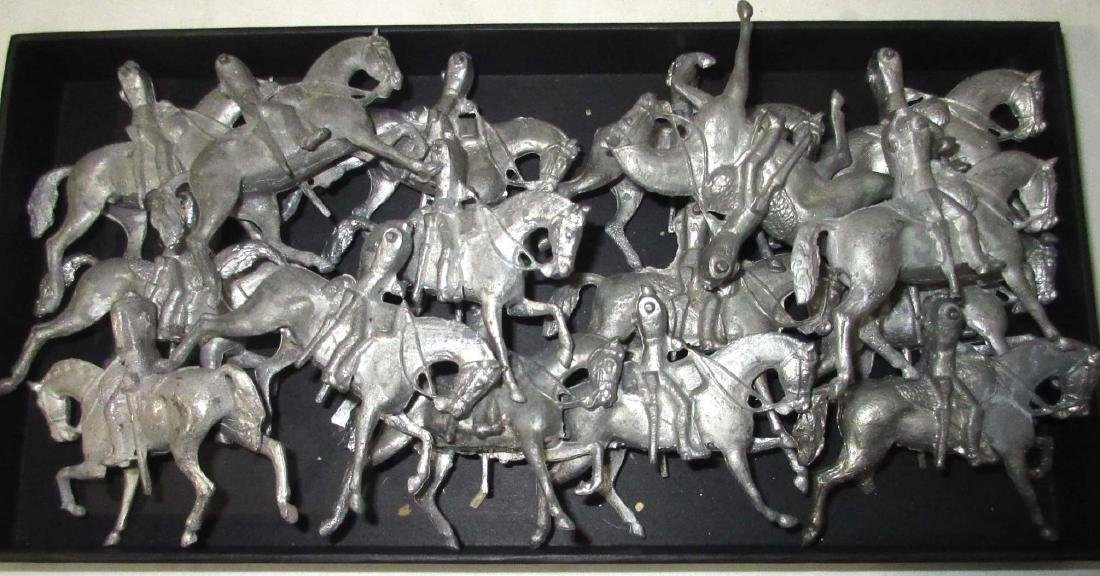 Set of Lead Horses for Parts