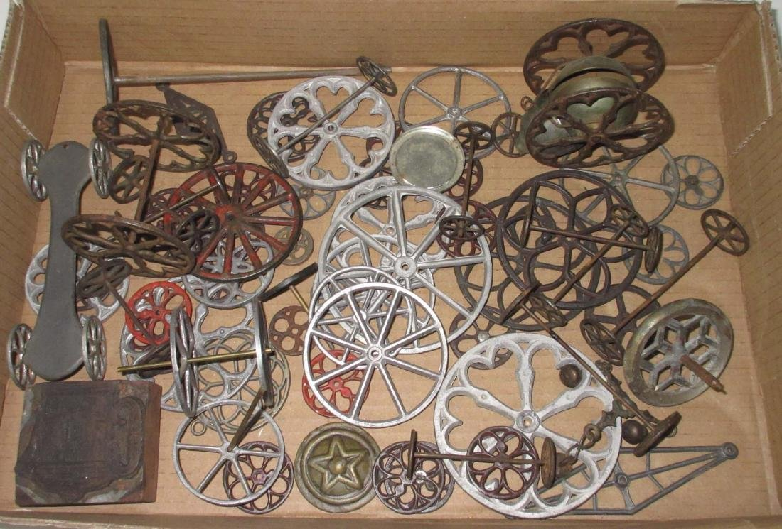 Lot of Early & Modern Tin Toy Parts