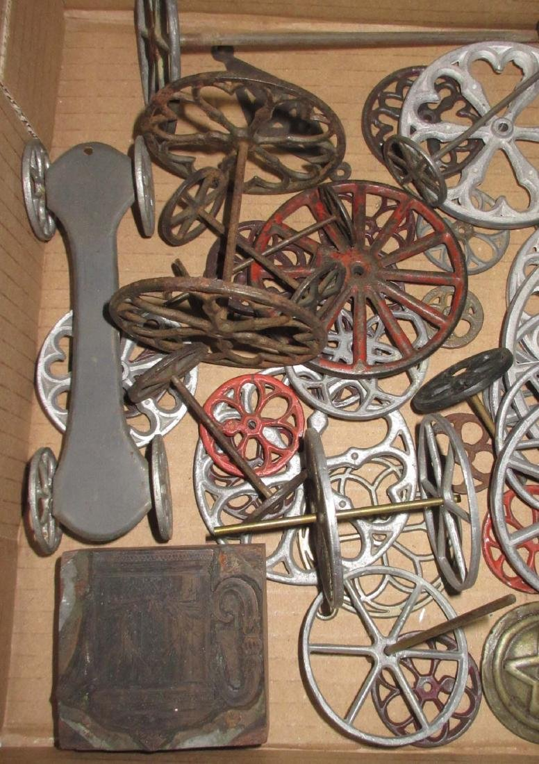 Lot of Early & Modern Tin Toy Parts - 2