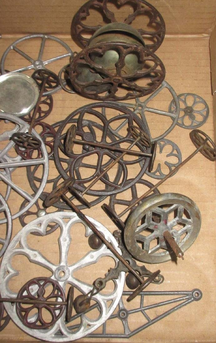 Lot of Early & Modern Tin Toy Parts - 4