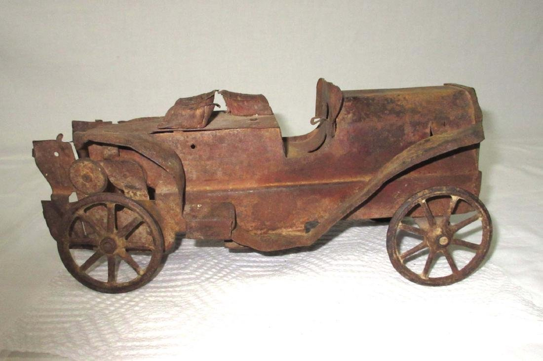 Early Steel Toy Automobile