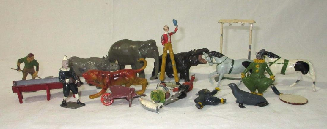 Lot of Lead Circus Animals & People