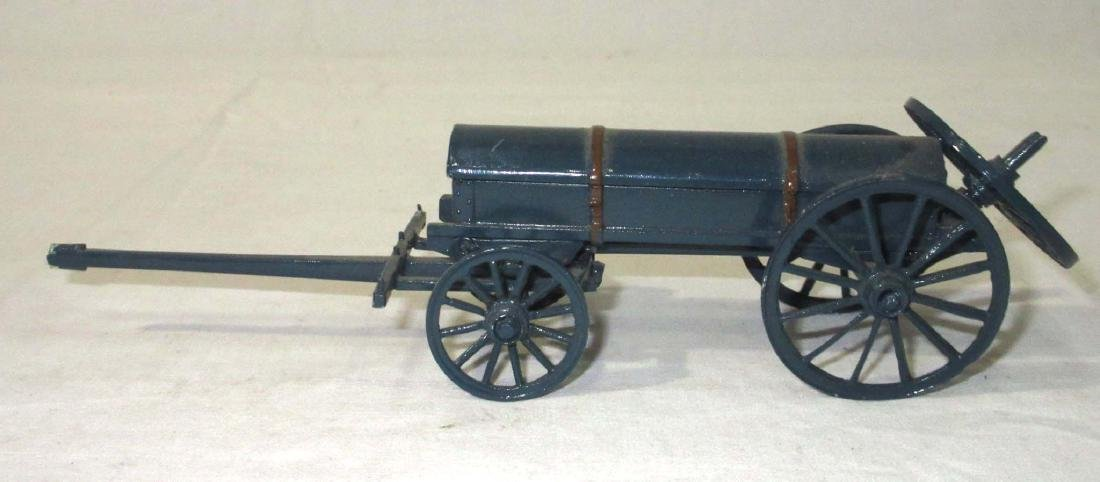 Lot of Lead Wagons, Horses, & Cannons - 4