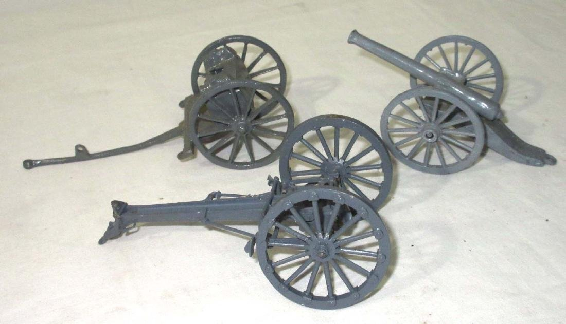 Lot of Lead Wagons, Carts, Ammo Carts, Cannons - 2