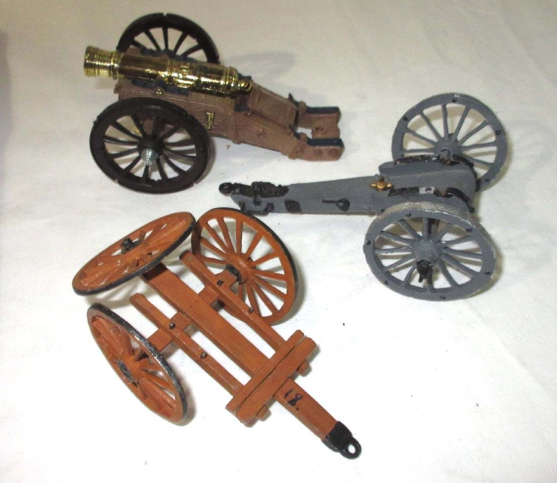 Lot of Lead Soldiers, Horses, Carts, & Cannons - 2