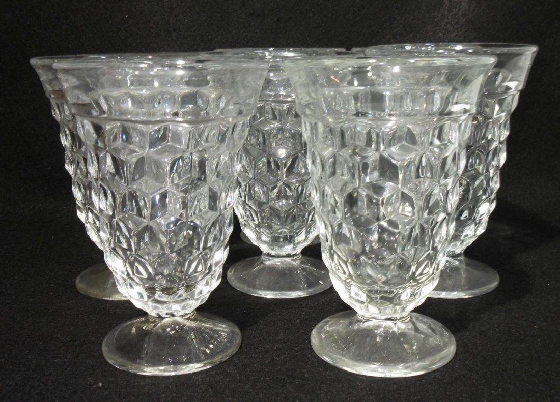 Set of 8 Fostoria America Goblets