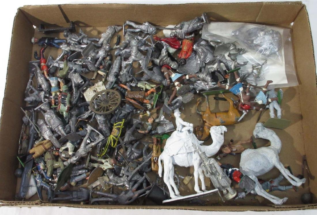 Large Lot of Lead Soldiers & Horses