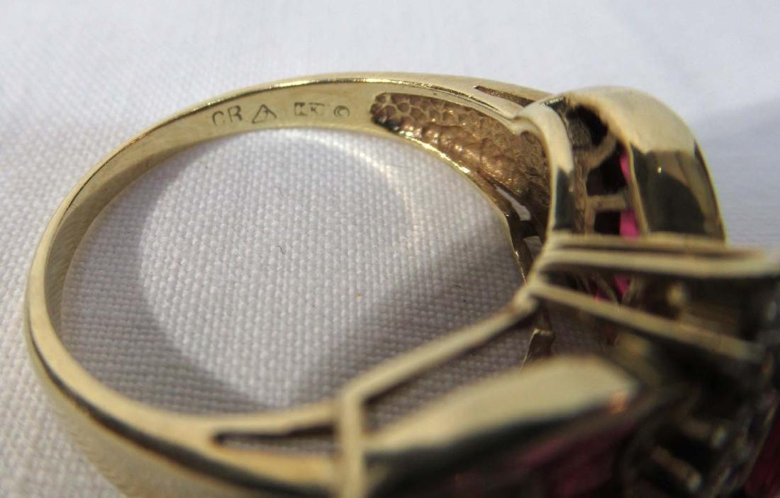 14K Gold Ruby & Diamond Ring - 5