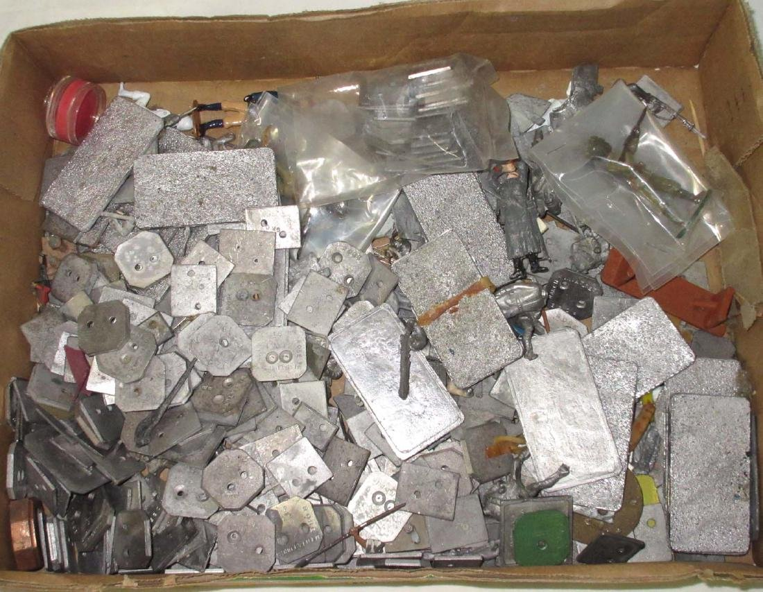 Large Lot of Lead Soldiers Bases