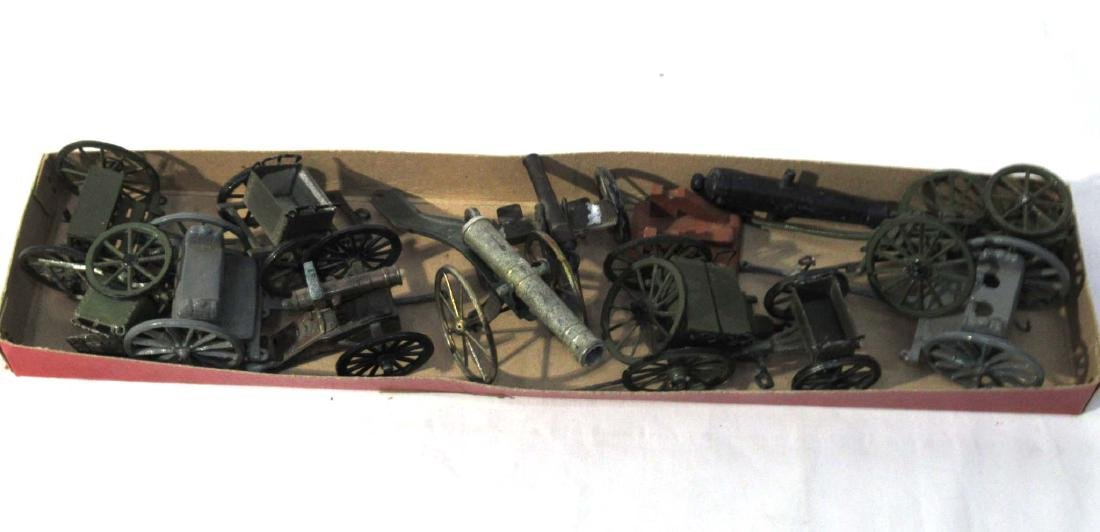 Lot of Lead Wagons, Cannons, Carts