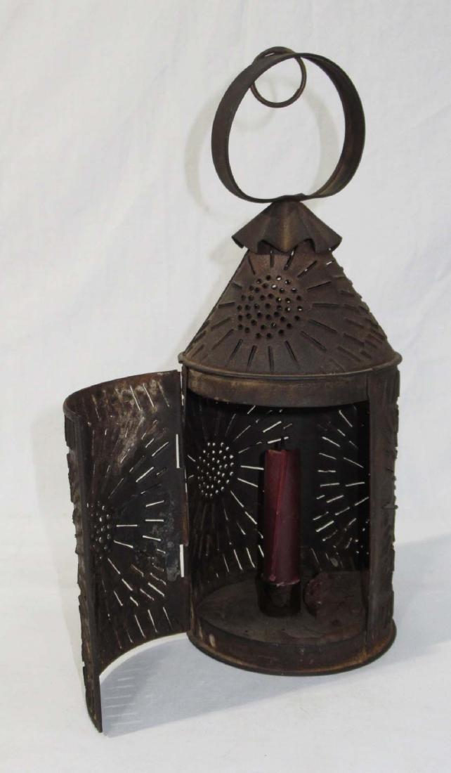 Early Tin Candle Lantern - 2
