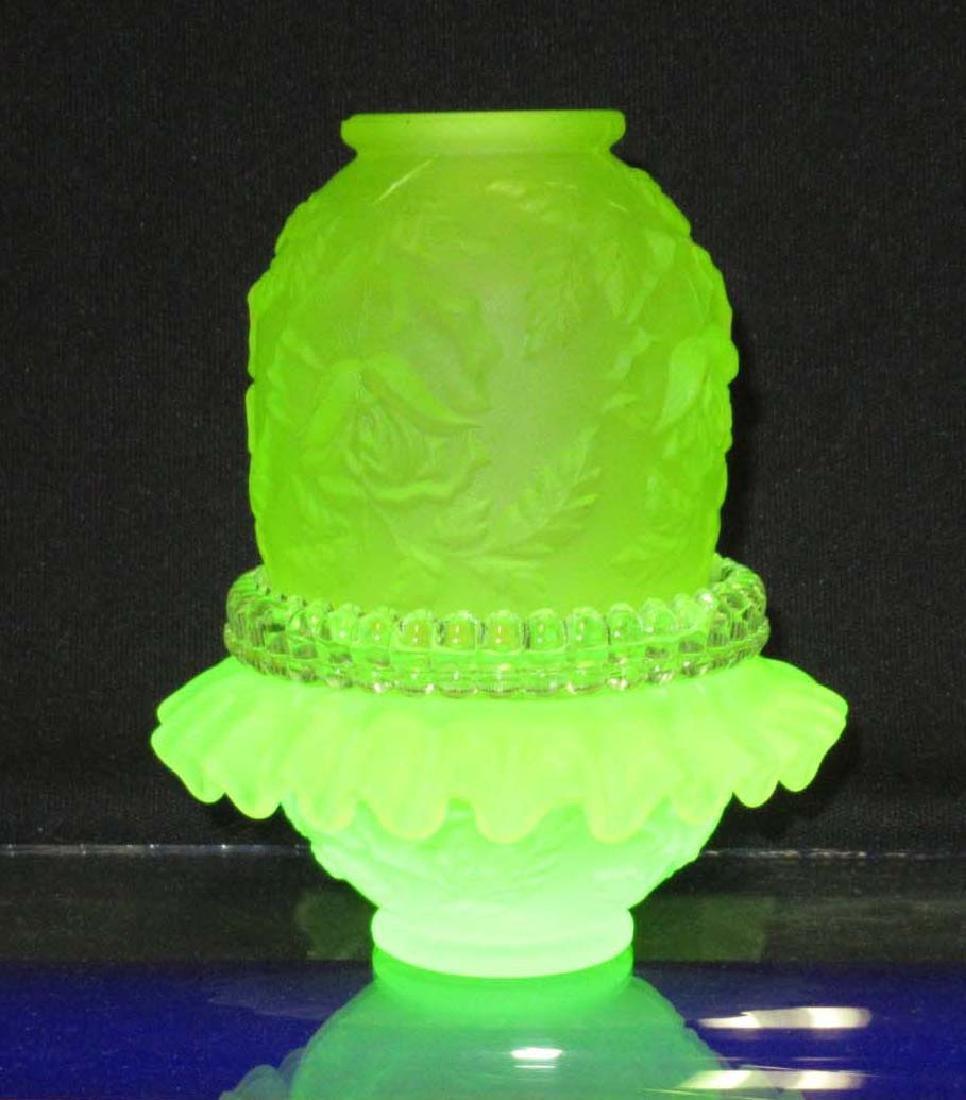 Fenton Vaseline Fairly Lamp