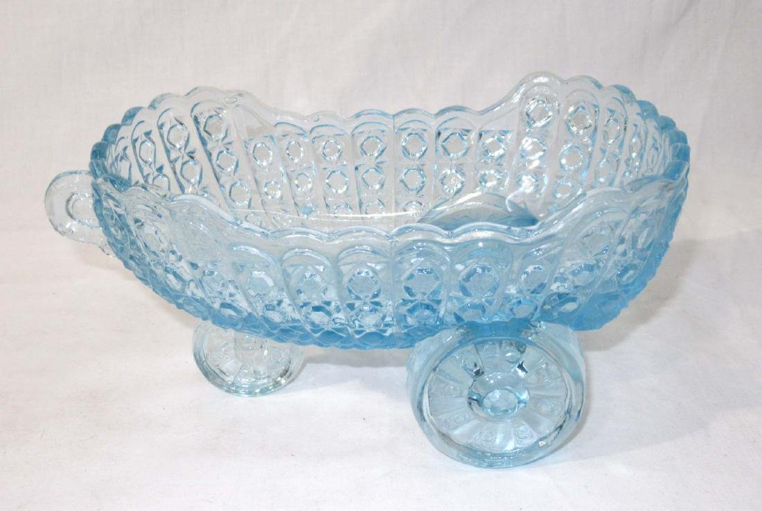 Blue EAPG Buggy Candy Dish