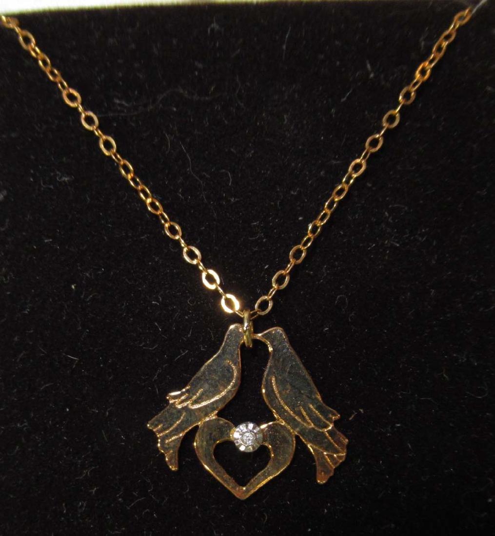 3pc Gold Filled Jewelry w/ Diamonds - 3