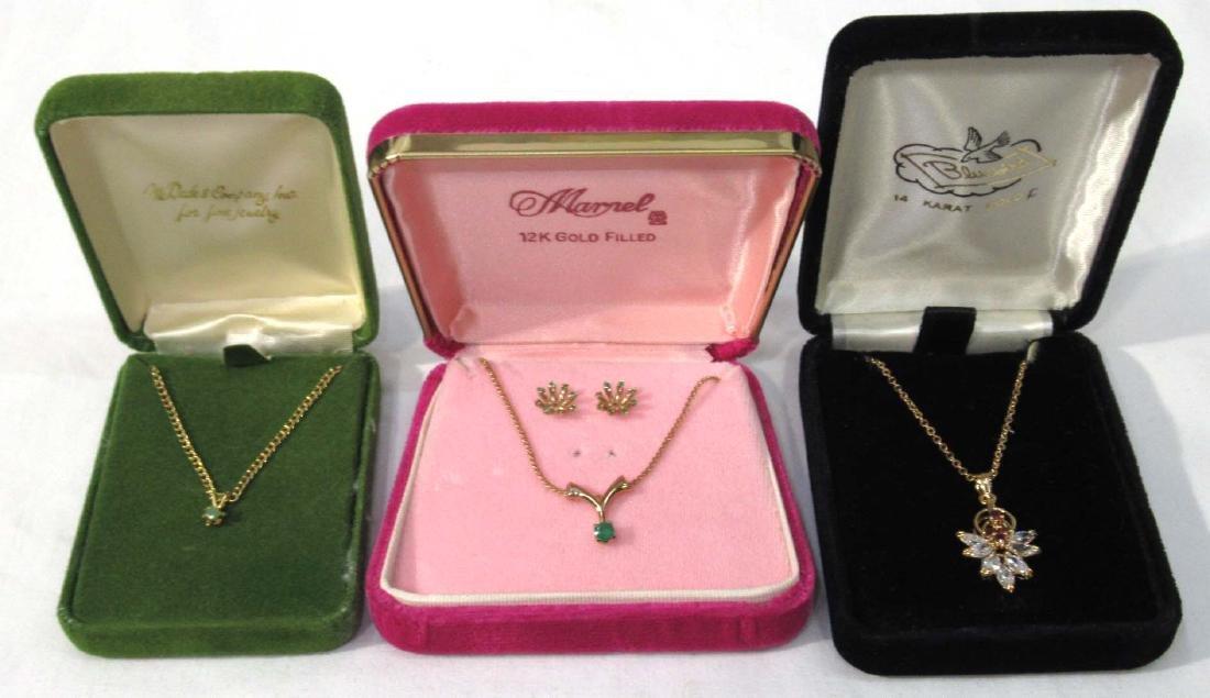 Crysoprase, Garnet, & CZ Jewelry