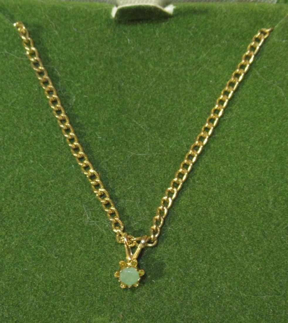 Crysoprase, Garnet, & CZ Jewelry - 2