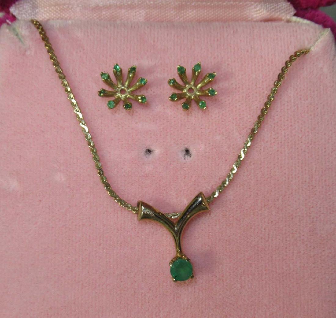 Crysoprase, Garnet, & CZ Jewelry - 3