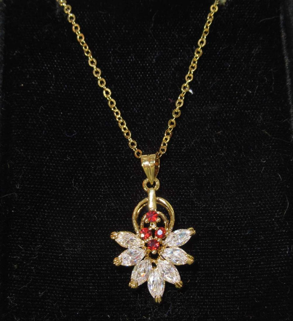 Crysoprase, Garnet, & CZ Jewelry - 4
