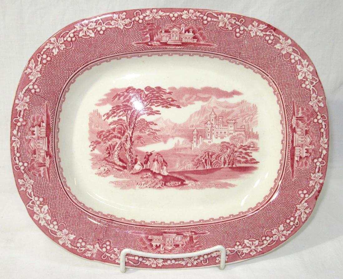 Pink & White Staffordshire, Jenny Lind Platter