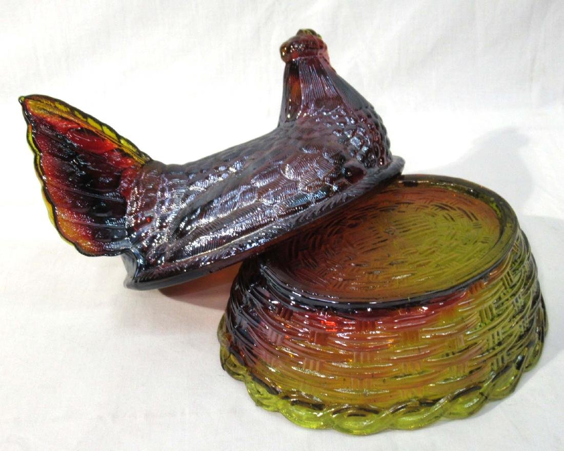 Carnival Boyd Glass Hen on Nest - 2