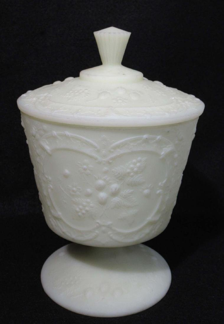 Fenton Custard Glass Dish