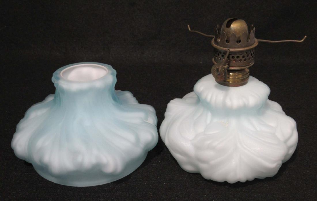 Miniature Cased Glass Oil Lamp - 2
