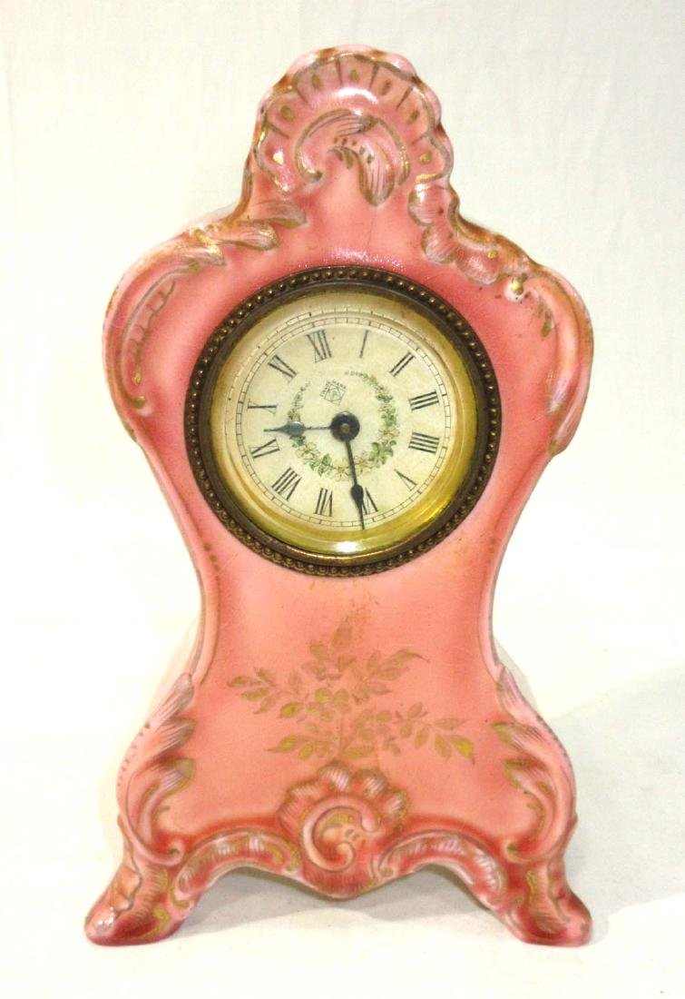 Ansonia Clock in French Porcelain Case