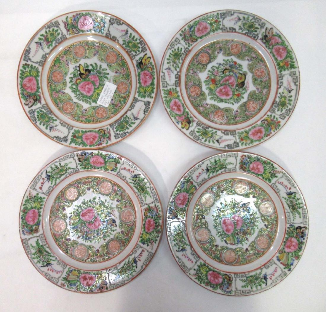 4 Oriental Plates