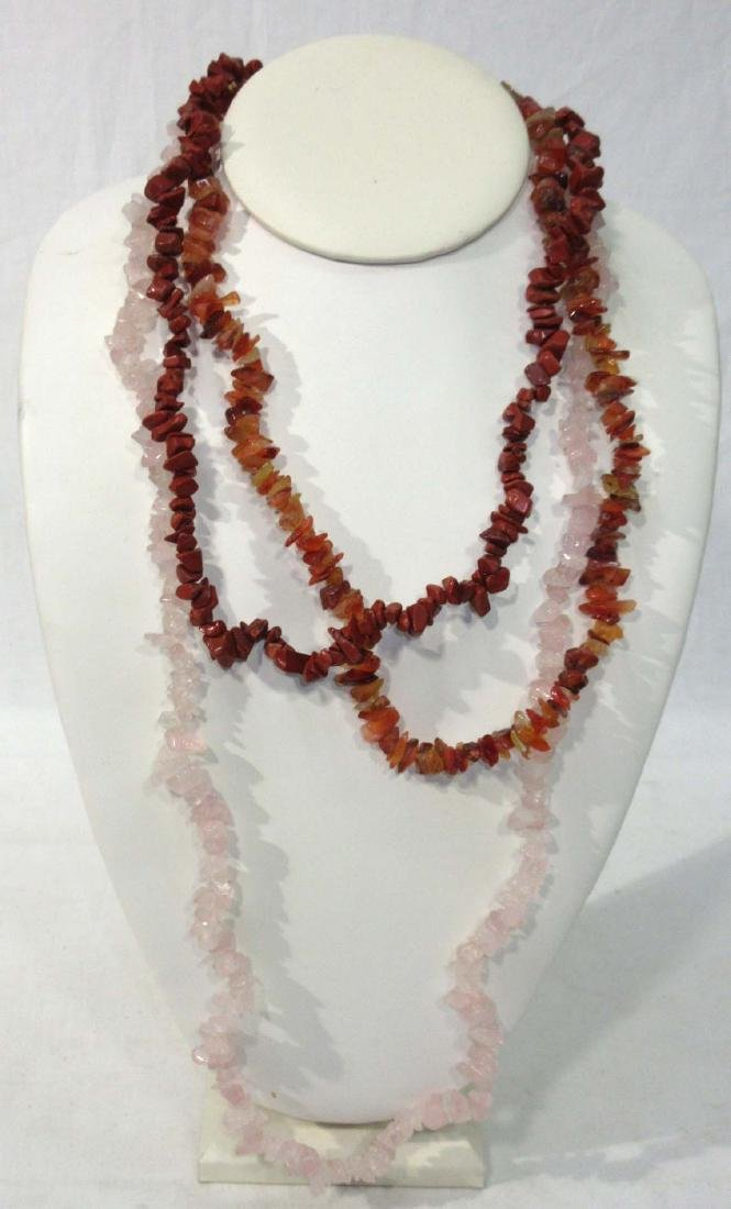 3 Polished Stone Necklaces