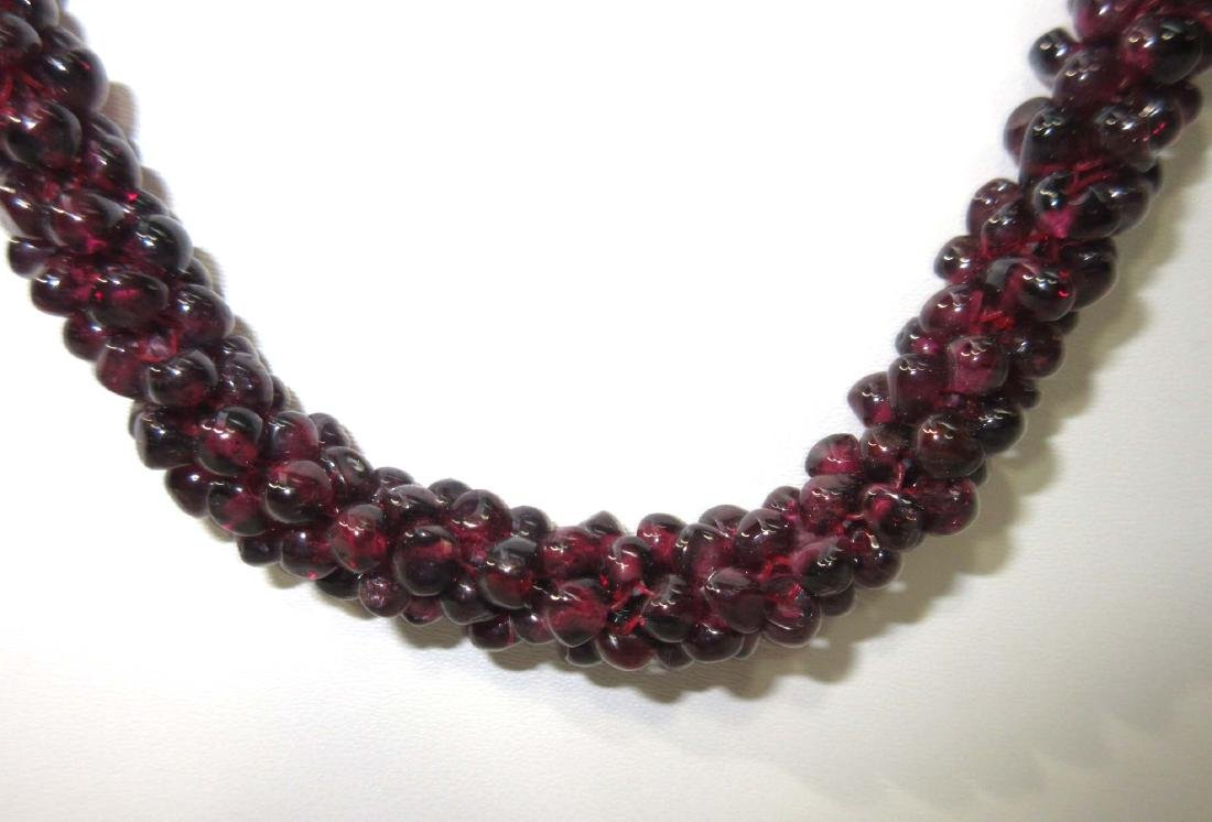 Woven Garnet Necklace - 2
