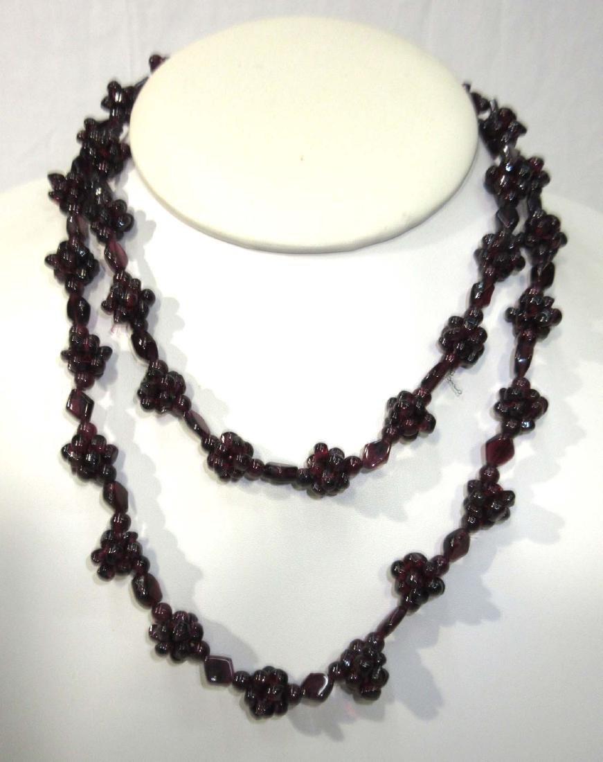 Woven Garnet Necklace
