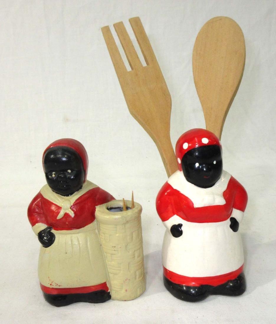 2 Modern Black Americana Kitchen Items