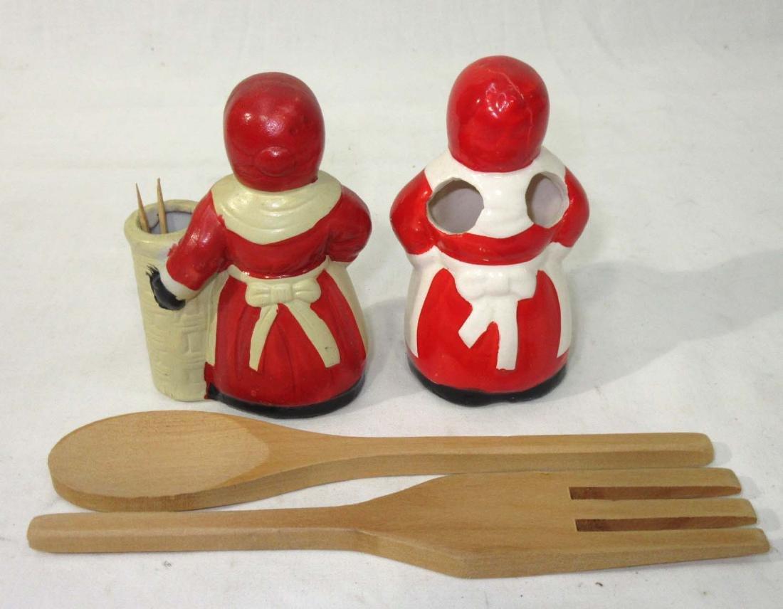 2 Modern Black Americana Kitchen Items - 2