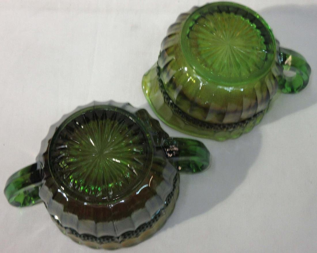 Carnival Glass Cream & Sugar Mkd Northwood - 3