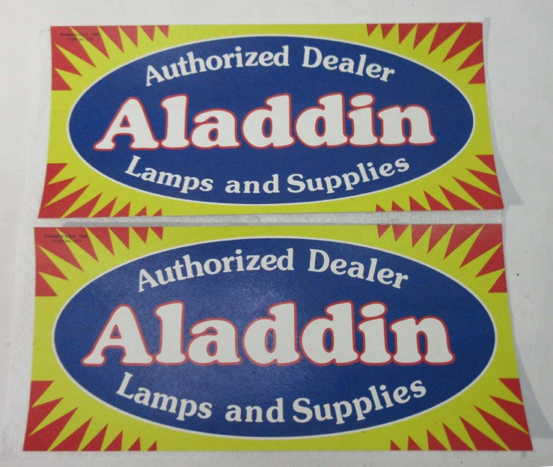 (2) 1993 Aladdin Lamp Signs