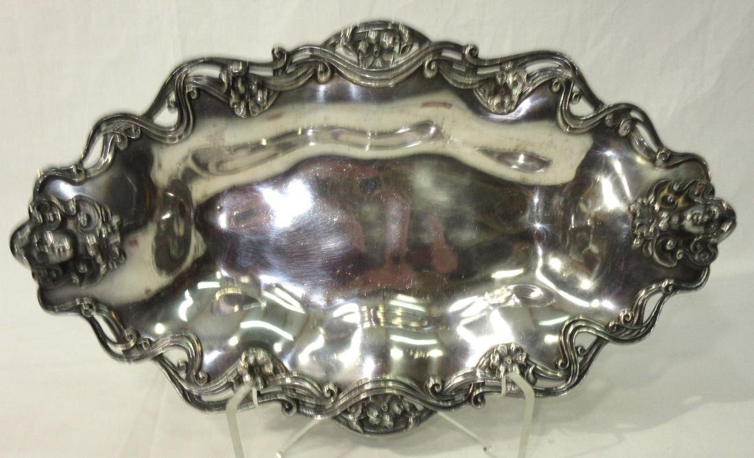Victorian S.P. Tray w/ Woman's Heads - 2