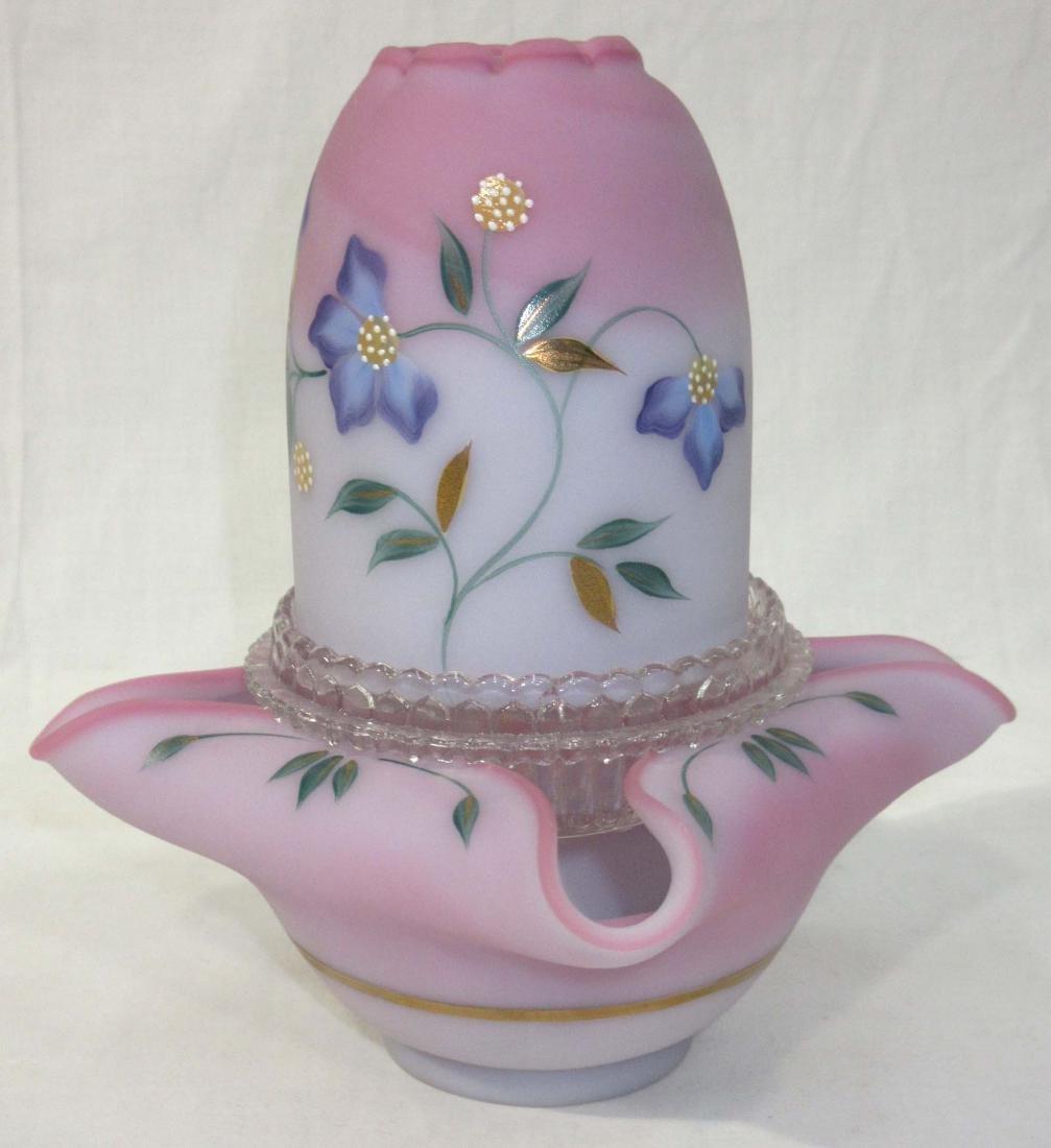 Fenton H.P. Burmese Fairy Lamp