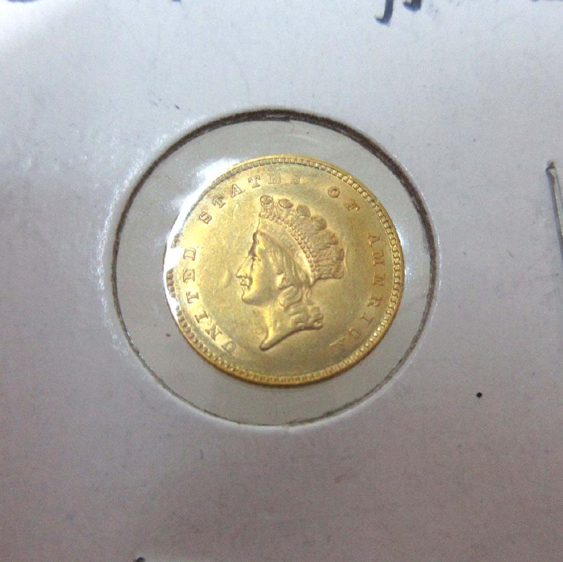 1854 Type 2 $1 Gold Coin