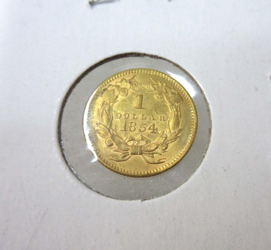 1854 Type 2 $1 Gold Coin - 2