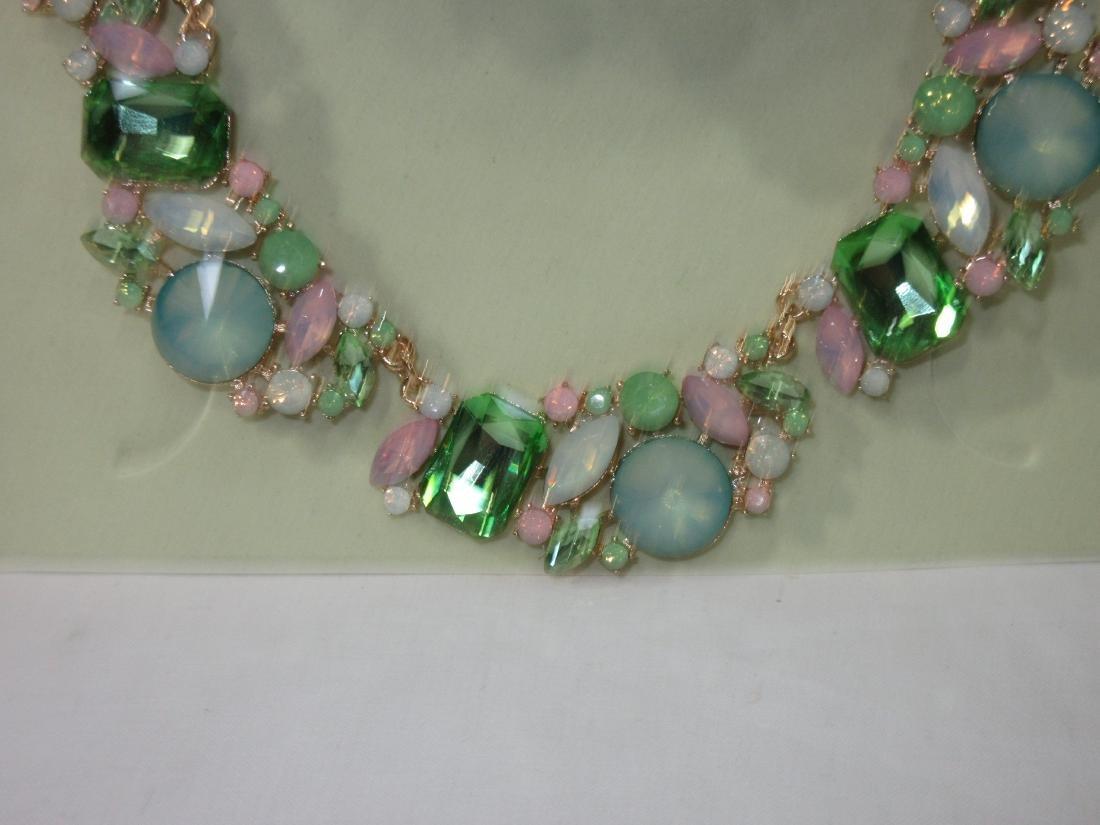 Rhinestone Necklace & Earring Set - 2