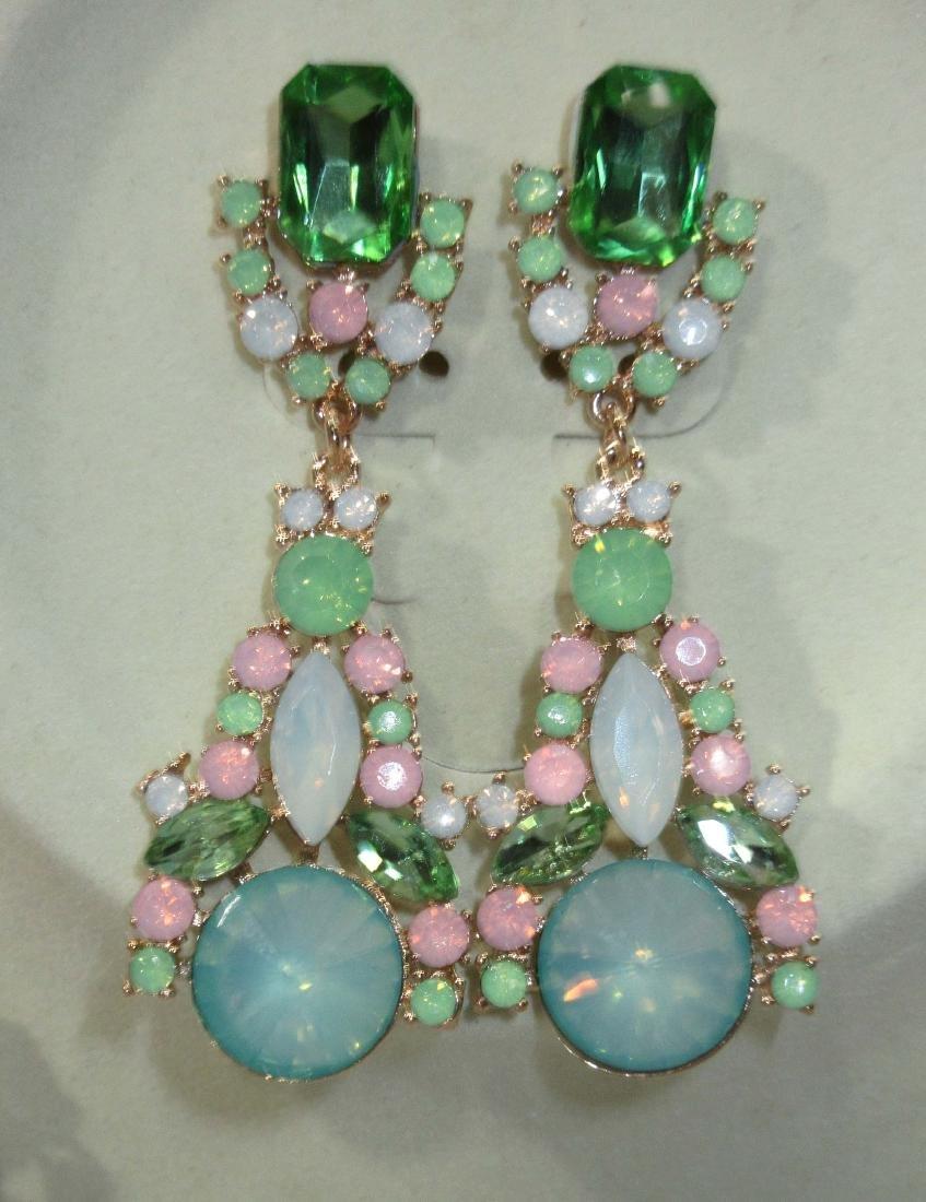 Rhinestone Necklace & Earring Set - 3