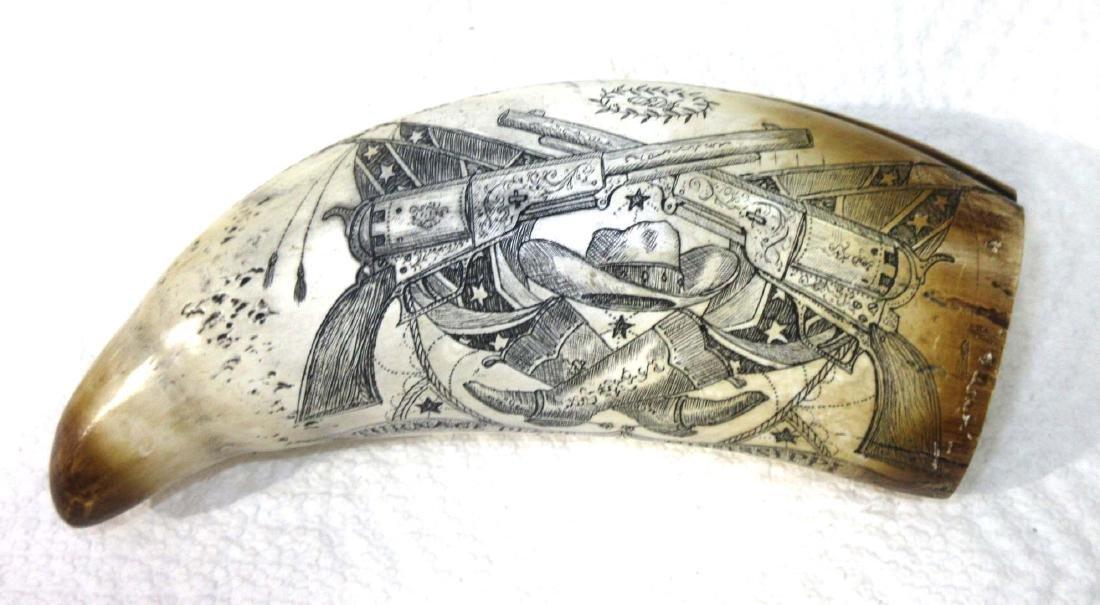 Modern Composition Scrimshaw Tooth