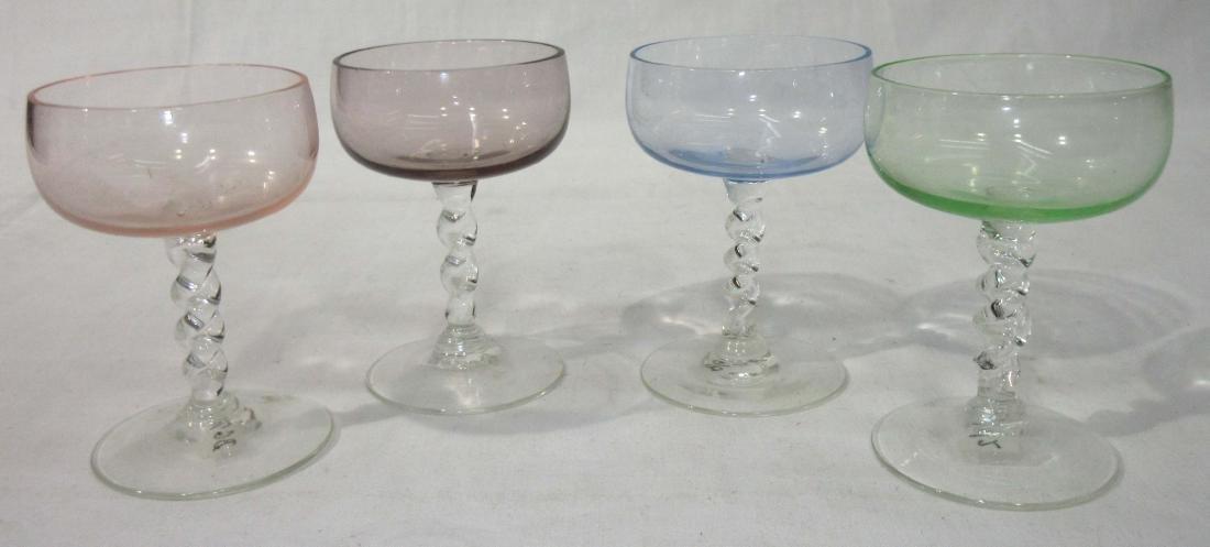 Set of 4 Pedestal Individual Salts