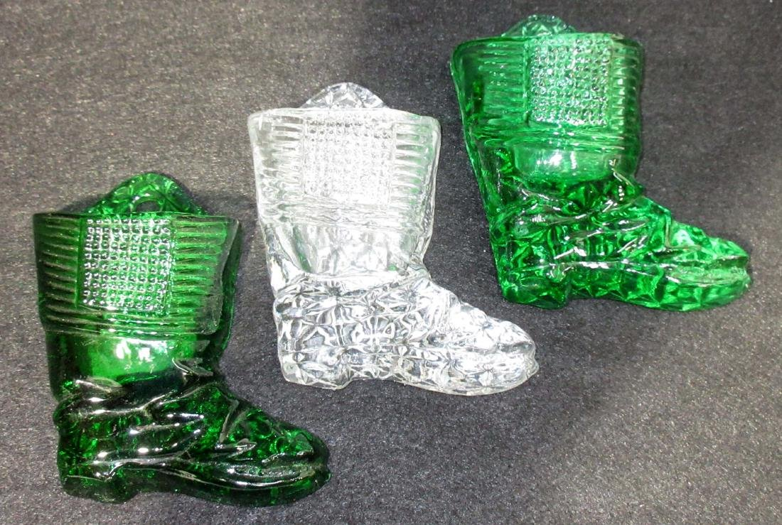 3 Glass Boot Match Holders