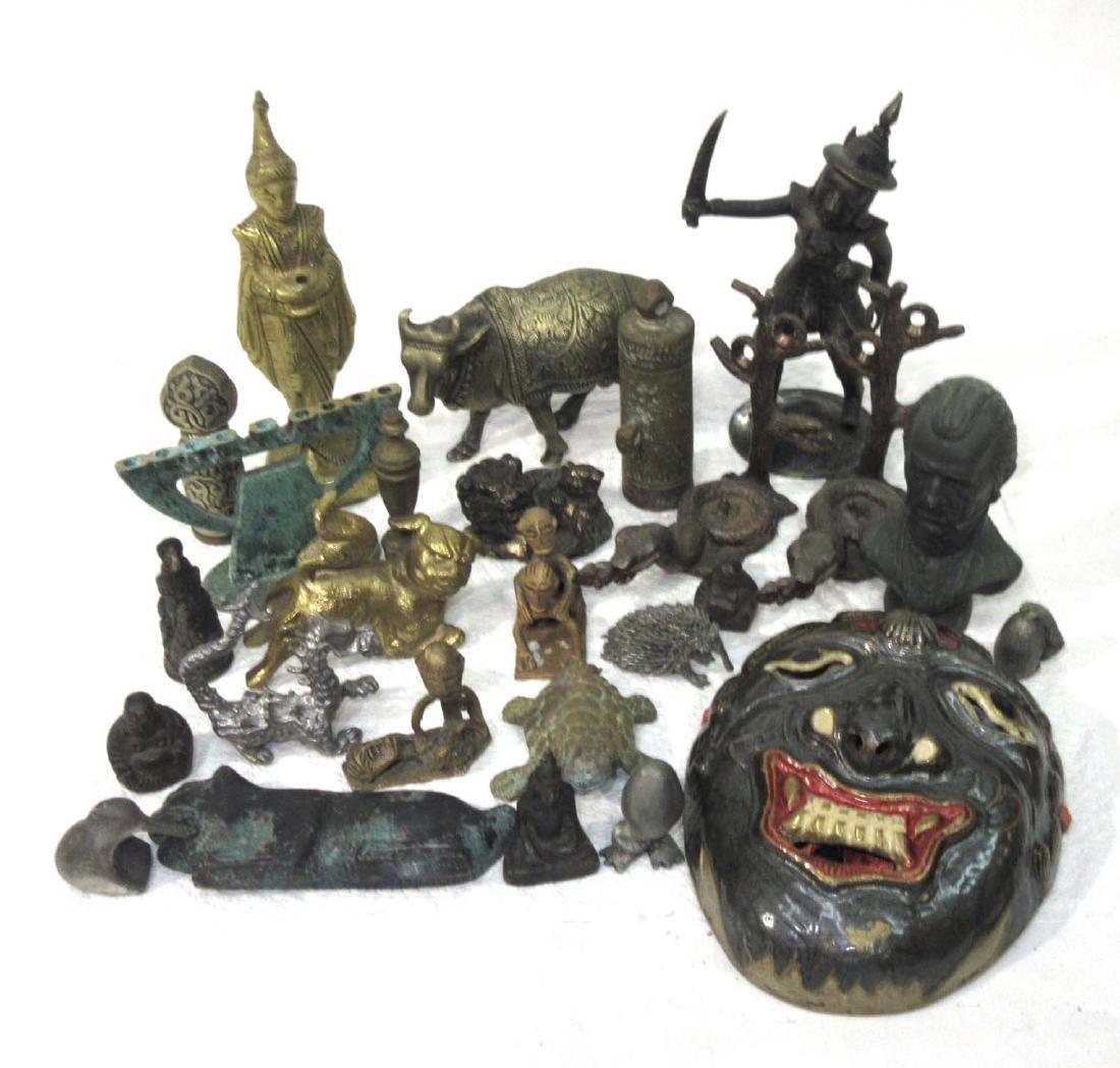 Lot of Oriental Metal Figures