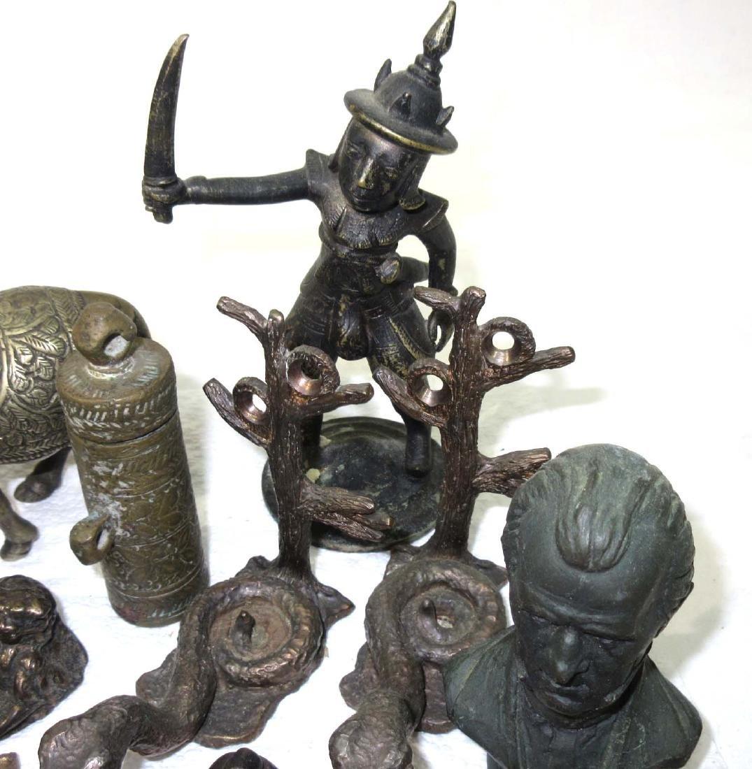 Lot of Oriental Metal Figures - 3