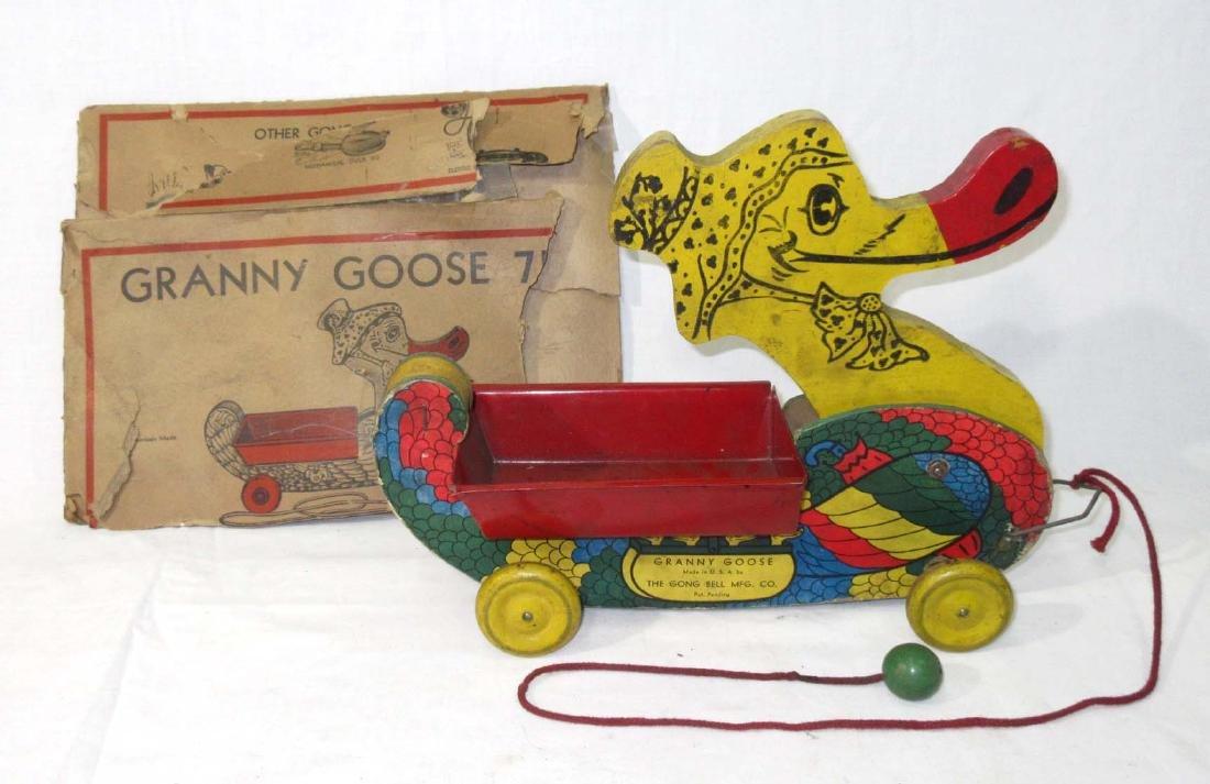 Granny Goose Pull Toy Orig. Box