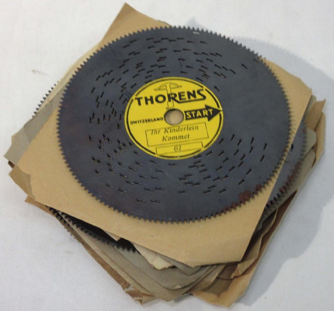 Lot of 10 Thoren Music Box Discs