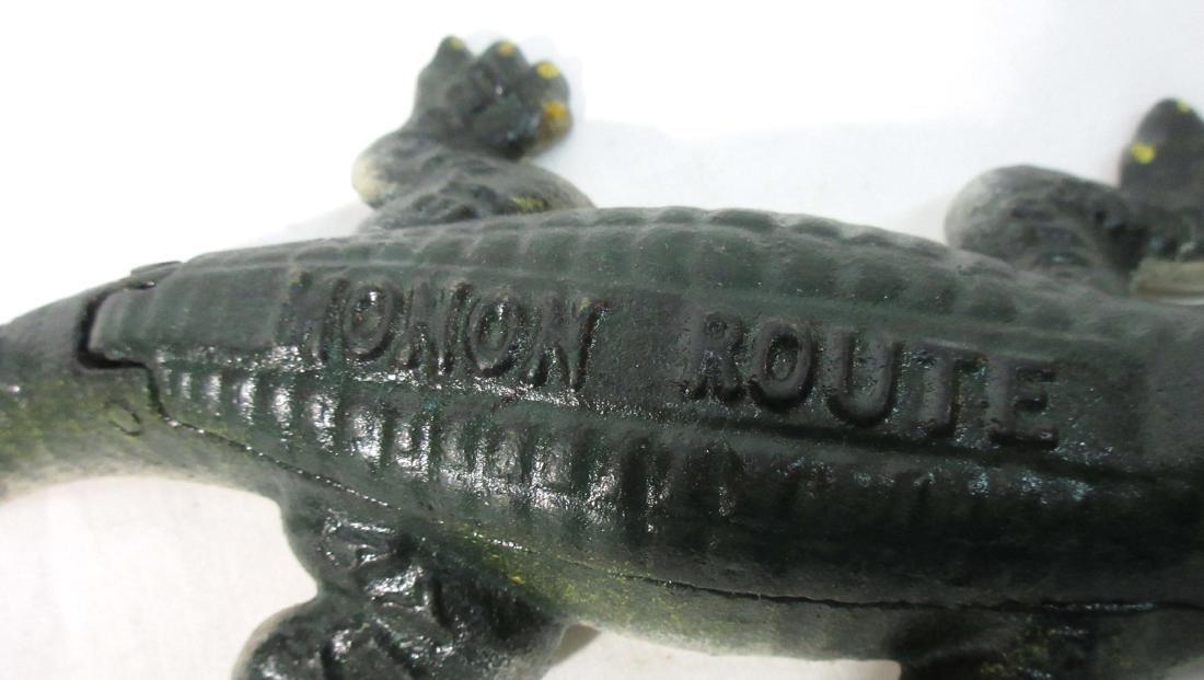 Modern Cast Iron Monon Route Alligator - 2