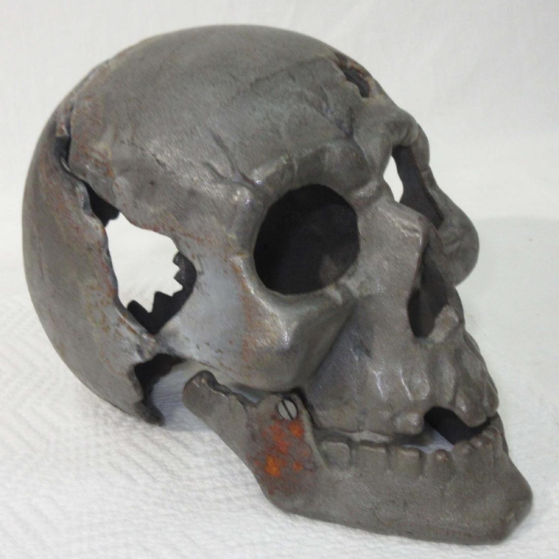 Cast Iron Human Skull